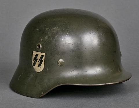 Model 1935 SS Double Decal Helmet from Germania School in Hamburg