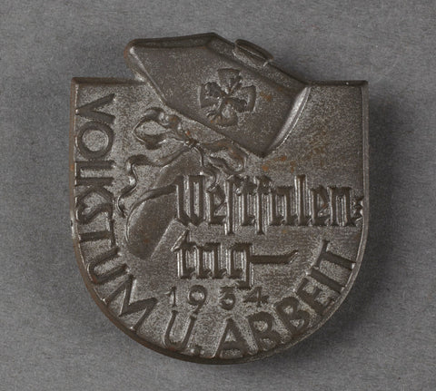 "Third Reich Tinnie for ""Westfalen-Tag 1934"""