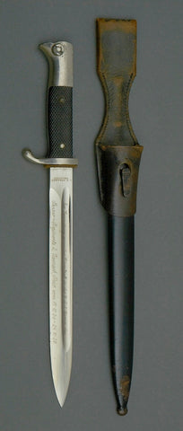 WWII German Long Model Engraved Dress Bayonet by C.D. Schaaff *THIS IS STILL AVAILABLE CLICK HERE*