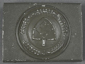 "Scarce Two-Piece RAD Enlisted Man's ""Combat"" Buckle in A"