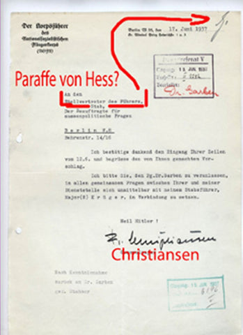 WWII German Letter from the Leader of the NSFK, General der Flieger Christiansen