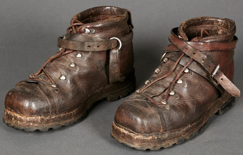 Scarce and Desirable WWII German Wehrmacht Gebirgsjäger Ski Boots