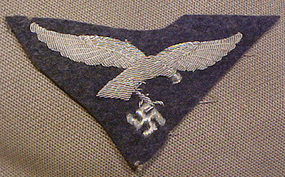 WWII German Luftwaffe Officer's Hand Embroidered Breast Eagle