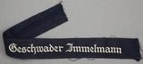 "Used, Tunic Removed WWII German ""Geschwader Immelmann"" Luftwaffe Cufftitle"