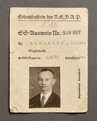 SS ID Card Signed by Gruppenführer