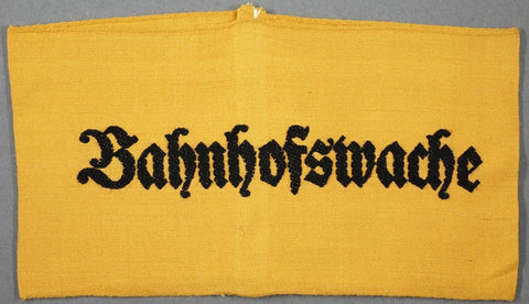 "WWII German ""Bahnhofswache"" (Railway Station Guard) Armband"