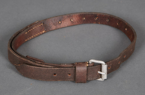 WWII German Brown Leather Utility Strap