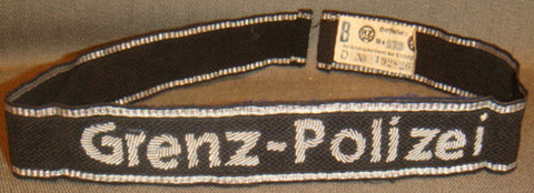 "WWII German SS ""Grenz-Polizei"" Cufftitle"
