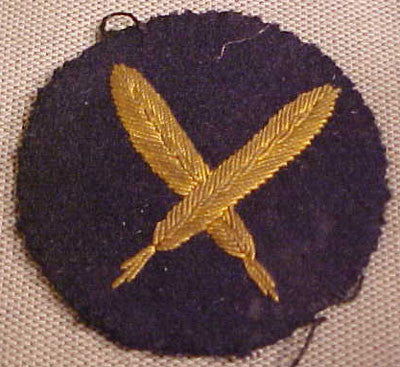 WWII German Kriegsmarine (Navy) Specialty Sleeve Patch for a Scribe