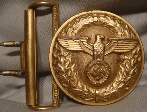 German Rare Political Leader's Buckle for Brocade Belt