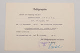 Massive Document Grouping to Army Oberstleutnant Eberhard Eberling Including Hitler Signed Document
