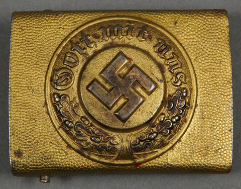 "WWII German Water Police ""Other Ranks"" Steel Buckle"