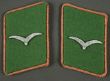 Set of Collar Tabs, Pink Piped, for a Schütze (One Gull)