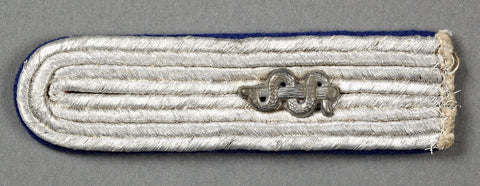 WWII German Single Sew In Shoulder Board for 2nd LT Medical Officer