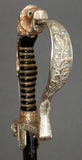 WWII German Silver Hilted Lion's Head Sword with Green Eyes