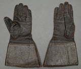 WWII German Luftwaffe Pilot's Gauntlet Type Leather Gloves