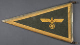 Rare and Desirable Army General's Fender Pennant with Ca