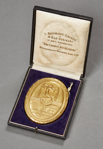 1932 Cased Non Portable Award for 1932 Automobile Event in Bad-Neuenahr