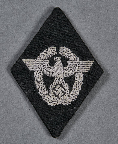 German WWII Waffen SS Sleeve Insignia for Former Police Members