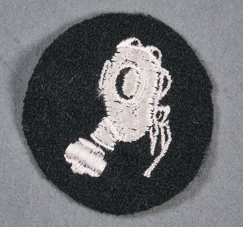 German WWII SS Specialty Sleeve Patch for Gas Mask NCO Instructor