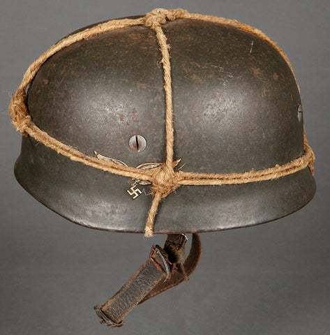 """As Found"", Untouched Model 1938 Single Decal German Paratrooper Helmet"