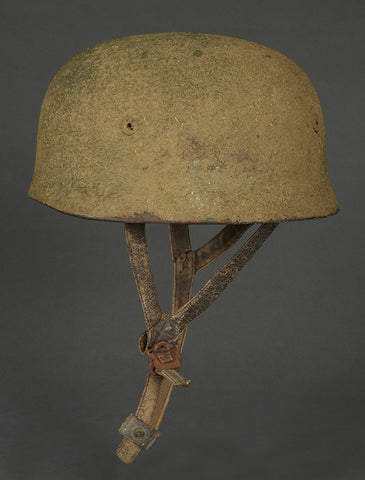 German Luftwaffe Fantastic Woodchip Camouflage Model 1938 Paratrooper Helmet