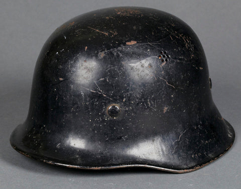 "Scarcely-Seen ""Flared Edge""  German Fire/Police Civic Helmet"