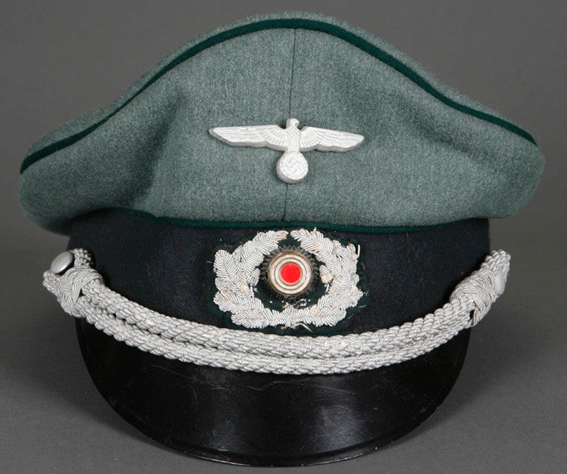 7800640670b WWII German Army Administration Officer s Private Purchase Visor Cap