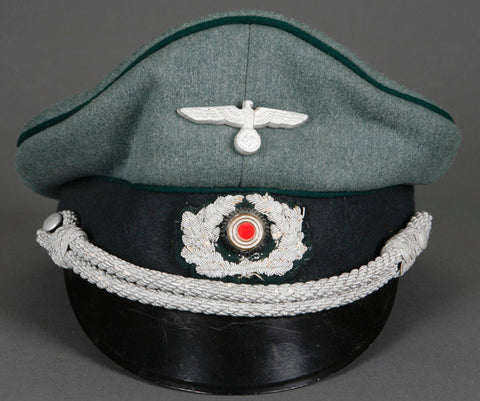 WWII German Army Administration Officer's Private Purchase Visor Cap