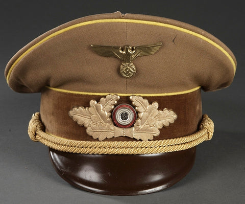 German Political Leader's Visor Cap for an Official at Reichs