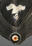 WWII German Luftwaffe Flight Base Mechanic Overseas Cap