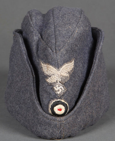 WWII German Rare Luftwaffe Winter Padded Overseas Cap