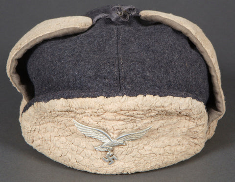 Interesting, WWII German Luftwaffe Winter Cap