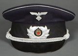 Rare, WWII German TeNo Officer's Visor Cap