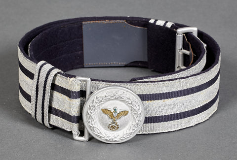 WWII German Diplomat-Government Official Brocade Belt and Buckle