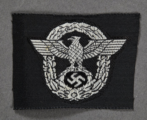 WWII German Police Panzer Headgear Insignia