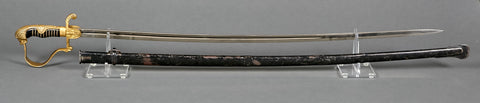 WWII German Army Officer's Lionhead Sword with Two National Emblems Unattributed Model by WKC