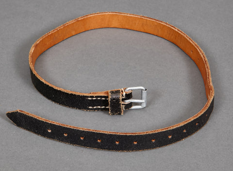 Black Leather Utility Strap