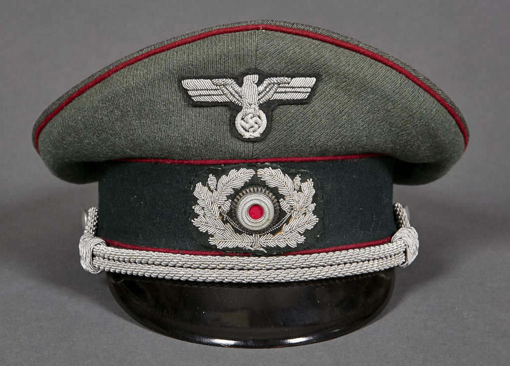 1bd52b646d5 WWII German Army Officer s Visor Cap for Smoke Troops – The ...