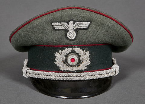 WWII German Army Officer's Visor Cap for Smoke Troops