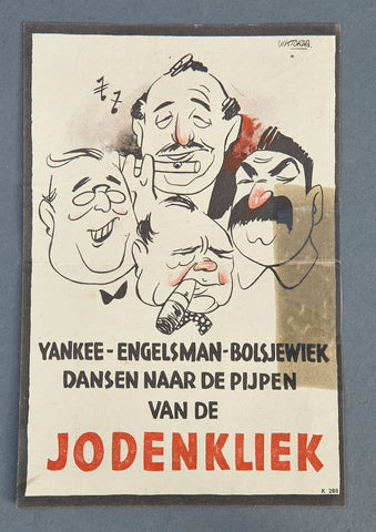 WWII Dutch Anti-Jewish Flyer