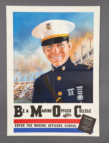 WWII U.S. Marine Corp Officer School Poster