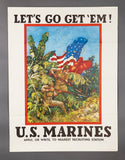 WWII U.S. Marine Recruiting Poster, Early Rare Item