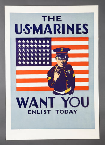 WWII U.S. Marine Recruitment Poster
