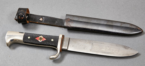 German NAZI Hitler Youth Knife with Motto by Henckels