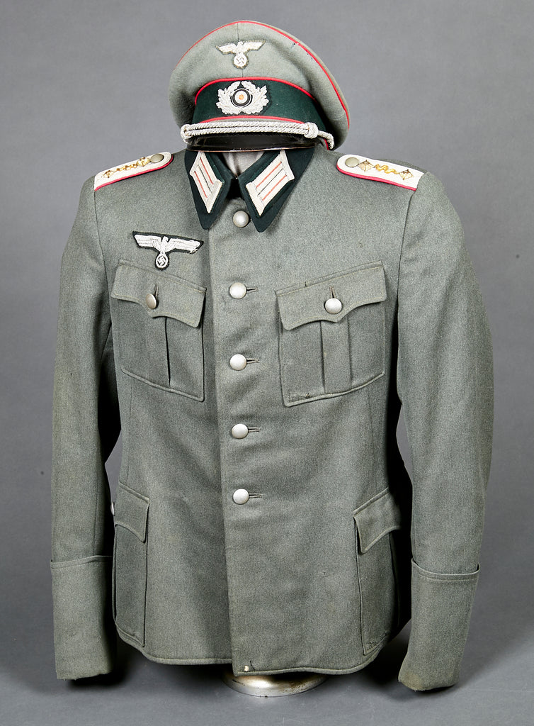 WWII German Army Veterinary Captain Tunic and Visor Cap