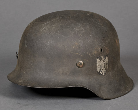 "WWII German Army Model 1942 ""Double Decal"" Helmet"