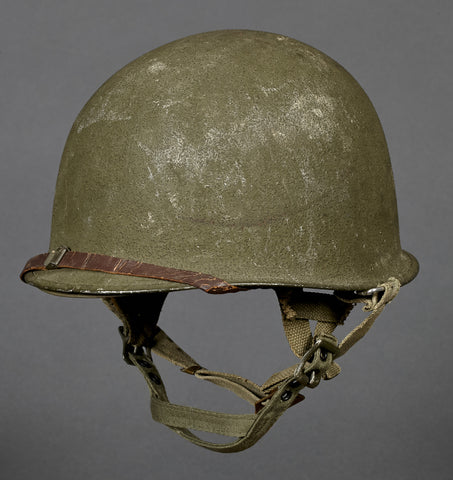 WWII US M-1 Paratrooper Helmet, Rigger Done