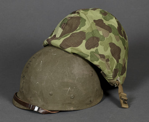 WWII US Marine Corp M-1 Helmet, Named w/Cover