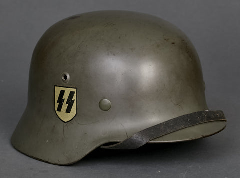 WWII German Waffen SS Model 1935 Double Decal Helmet